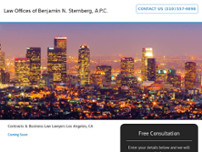 Law Offices of Benjamin Sternberg website screenshot
