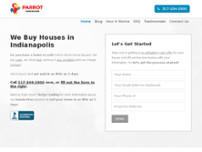 Parrot Home Buyers website screenshot