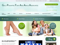 Galli Podiatric Foot and Ankle Associates website screenshot