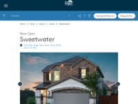 Sweetwater by Pulte Homes website screenshot
