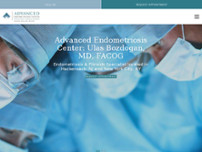 Advanced Endometriosis Center: Ulas Bozdogan, MD website screenshot