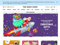 The Body Shop website screenshot