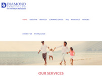 Diamond Institute for Infertility & Menopause website screenshot