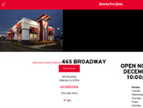 KFC website screenshot