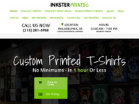 Inksterprints T-shirt website screenshot