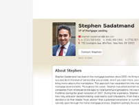 Stephen Sadatmand website screenshot