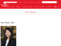 Yen Pham, MD website screenshot