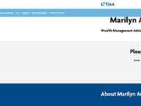 Marilyn Anstey - TIAA Wealth Management Advisor website screenshot
