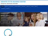 Granite State Hearing Aid Center website screenshot