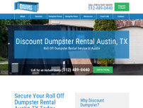 Discount Dumpster Rental website screenshot