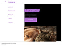 The Woshtub pet grooming website screenshot