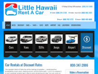 Little Hawaii Rent A Car website screenshot