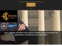 Hunter Investigative Group Inc. website screenshot
