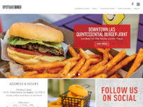 Upstage Burger website screenshot