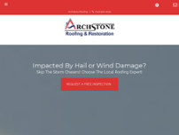 Archstone Roofing website screenshot