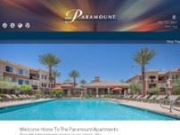 The Paramount Apartments website screenshot