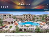 The Palladium Apartments website screenshot