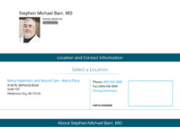 Stephen Barr, MD website screenshot