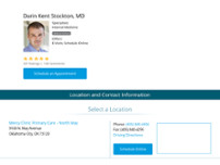 Darin Stockton, MD website screenshot