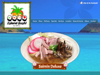Island Sushi And Grill website screenshot