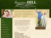 Independence Hill  Retirement Community website screenshot