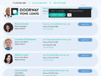 Doorway Home Loans website screenshot