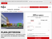 Regus - California, Los Angeles - Playa Jefferson website screenshot