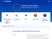 Allstate Insurance Agent: Marco Vargas website screenshot