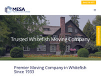 Mesa Moving and Storage website screenshot