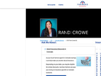 Farmers Insurance - Randi Crowe website screenshot