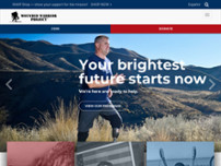 Wounded Warrior Project website screenshot