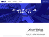 atlas janitorial services website screenshot