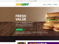 Subway® Restaurants website screenshot