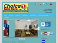 Choice 1 Auto Care website screenshot